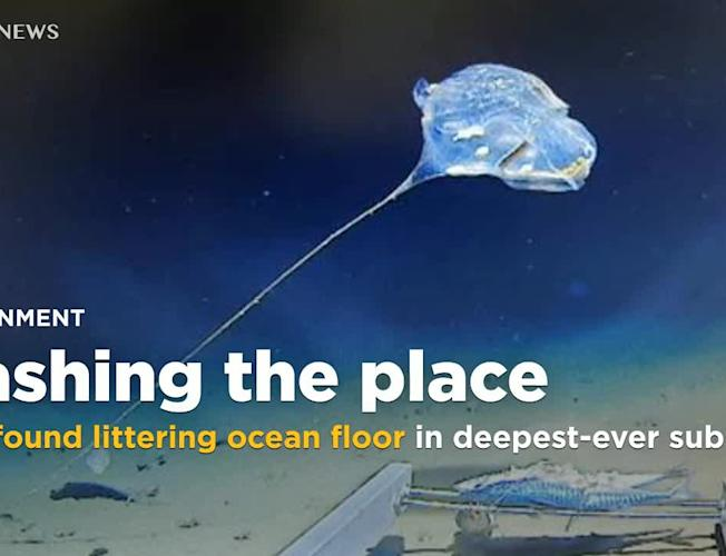 Trash found littering ocean floor in submarine dive to deepest place on  Earth