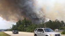 Wildfire Edges Near Major Roads in East Florida
