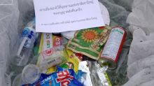 Thai national park sends rubbish back to tourists