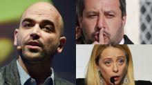 """Saviano a Meloni e Salvini: """"Odio verso Segre è responsabilità vostra"""""""