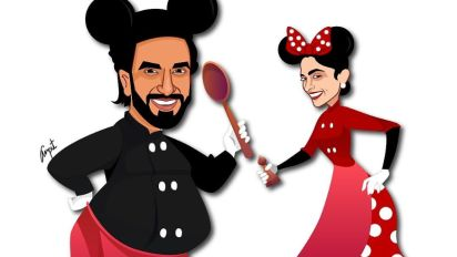 Presenting Ranveer Singh and Deepika Padukone as Mickey and Minnie Mouse