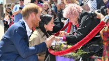 War widow Daphne Dunne, 98, meets Prince Harry for third time