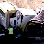 At least 13 killed in collision between semitruck and SUV