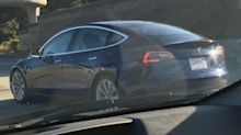 We spotted Tesla's Model 3 in the wild a week before its official launch