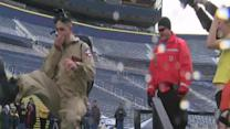 Hundreds dive in for Polar Plunge at Michigan Stadium