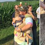 Dog stays by little girl's side as she goes missing overnight