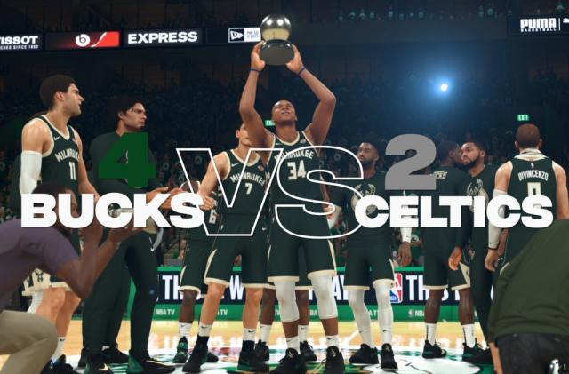 NBA 2K's simulated postseason sets its finals: Bucks vs. Lakers