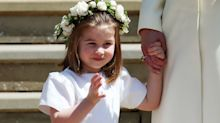 Princess Charlotte wishes Harry and Meghan well with an adorable wave after their royal wedding