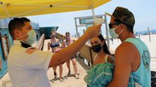Florida and Texas both hit record highs for new coronavirus cases on Saturday as outbreaks keep surging in the South