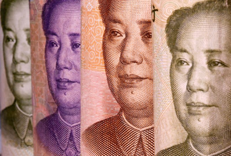 FILE PHOTO: Chinese Yuan banknotes are seen in this illustration