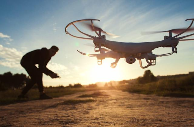 The military can shoot down drones that fly over bases