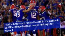 Florida Gators No. 4 in ESPN's Week 1 college football power rankings