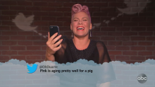 Pink, Miley Cyrus and others respond to hilariously mean tweets on 'Jimmy Kimmel Live!'
