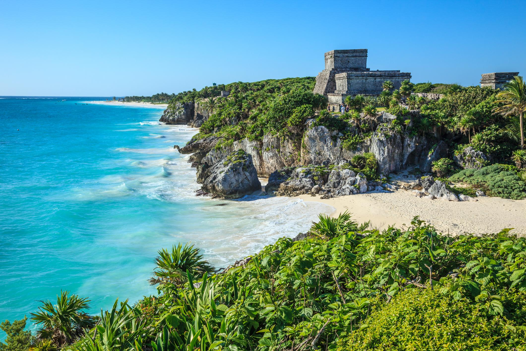 "<p>Direct flights from most cities? Check. Beautiful beaches? Check. Activities galore? Check. You'll get everything you want as the new Mr. and Mrs. — this region of Mexico is filled with a ton of accommodation options, so it's competitively priced. Plus, many hotels like <a href=""https://www.tripadvisor.com/Hotel_Review-g499445-d11775703-Reviews-UNICO_20_87_Hotel_Riviera_Maya-Akumal_Yucatan_Peninsula.html"" rel=""nofollow noopener"" target=""_blank"" data-ylk=""slk:Unico 20˚87"" class=""link rapid-noclick-resp"">Unico 20˚87</a>˚offer <a href=""https://www.unicohotelrivieramaya.com/"" rel=""nofollow noopener"" target=""_blank"" data-ylk=""slk:all-inclusive options"" class=""link rapid-noclick-resp"">all-inclusive options</a> — so you'll get a luxury experience without worrying about racking up the bill during your stay. ""With all of that money saved, you can spend it on adventures outside of the resorts,"" says Batkin. ""Check out attractions like the Mayan ruins and cool towns like Tulum.""</p>"