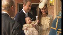 Kate Middleton, Duchess of Cambridge, is picture-perfect in ruffled McQueen at Royal Christening for Prince George