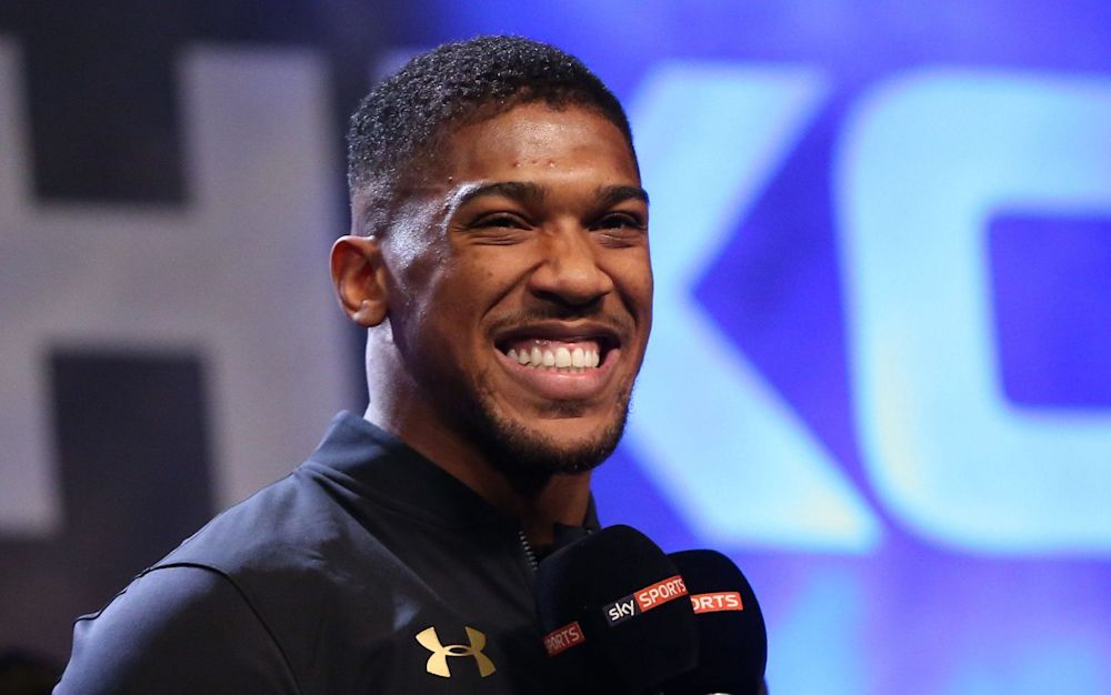 Antony Joshua is already being talked up as the first ever billionaire boxer. - Rex Features