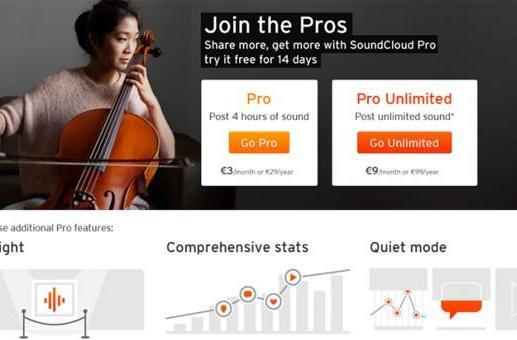 SoundCloud streamlines Pro plans, intros a Pro Partner tier for top streamers