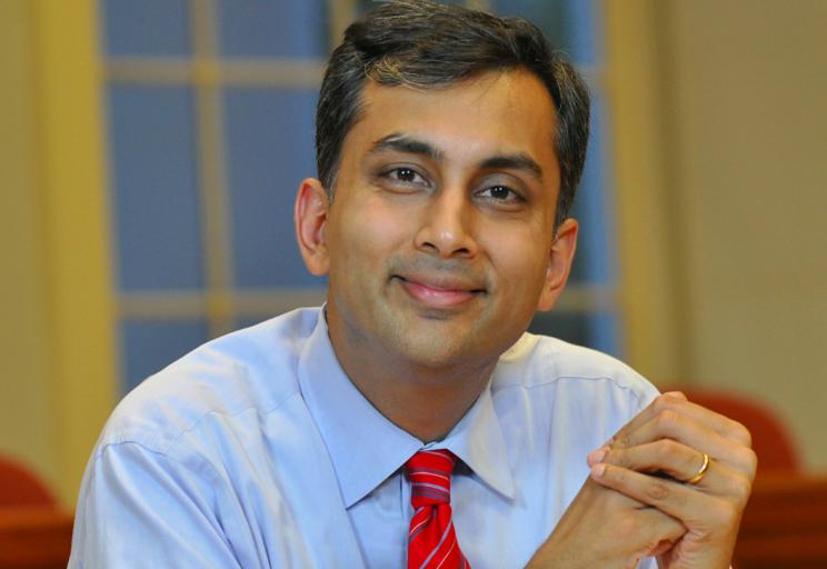 Mihir Desai, the Mizuho Financial Group professor of finance at Harvard Business School. (Phil Farnsworth/Mihir Desai via AP)