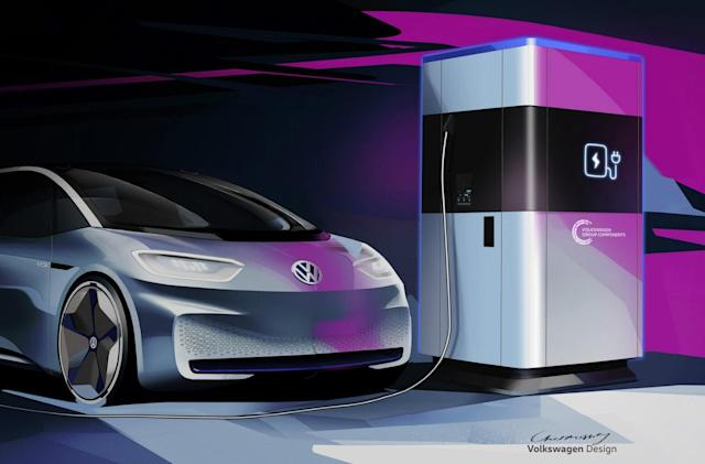 Volkswagen will produce its own car batteries and mobile EV chargers