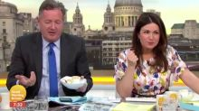 Piers Morgan rants after being caught eating breakfast live on Good Morning Britain