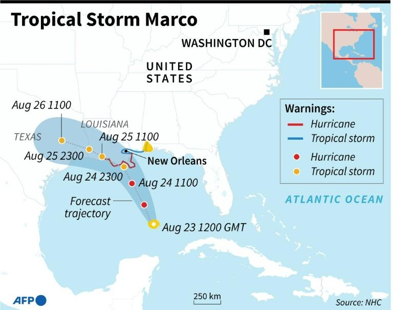 Tropical Storm Marco forecast to hit US coast as a hurricane