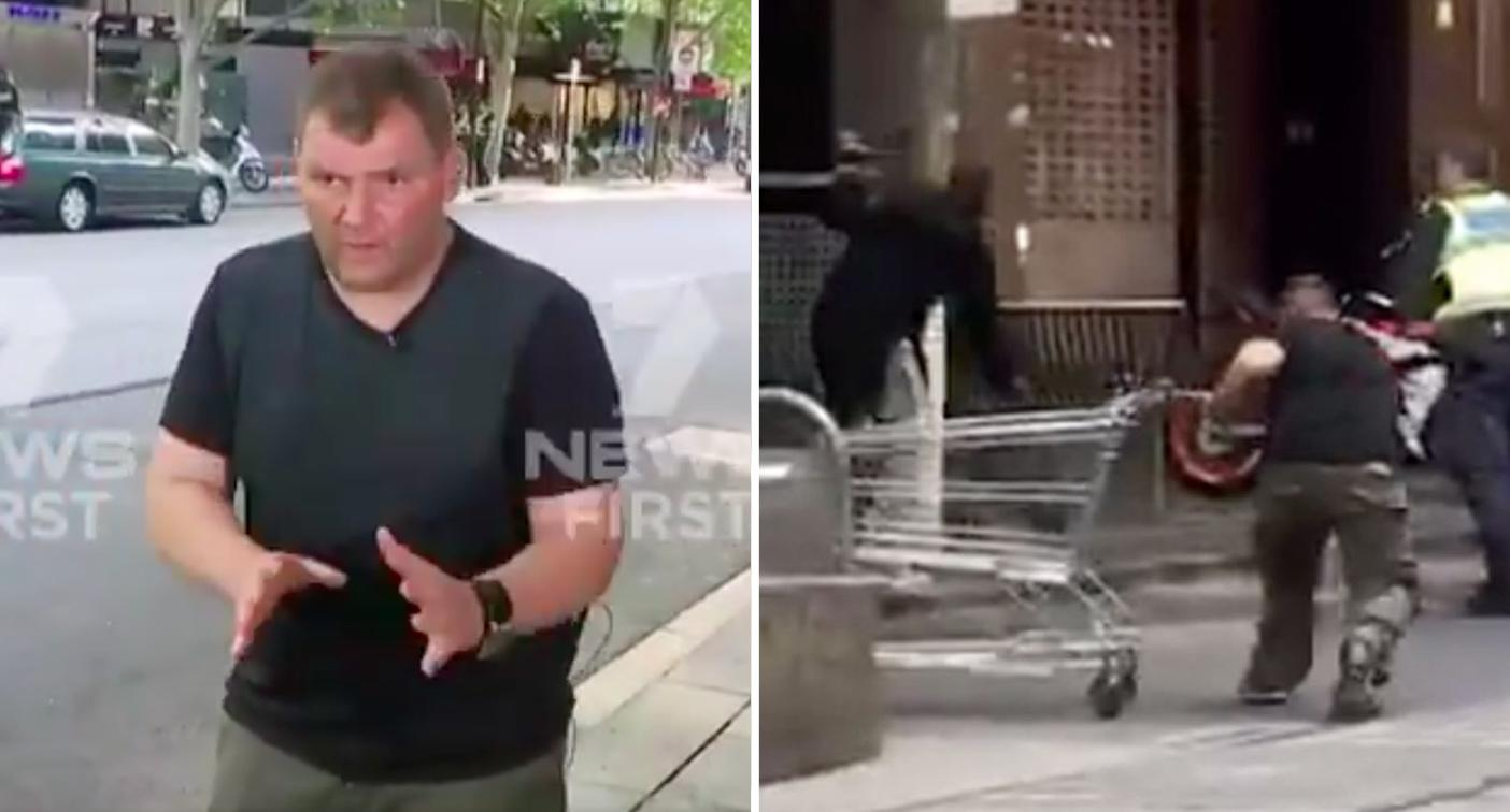 1 2 7 3 Down The Rockefeller Street: Bourke St 'trolley Hero' Describes How He Tried To Take