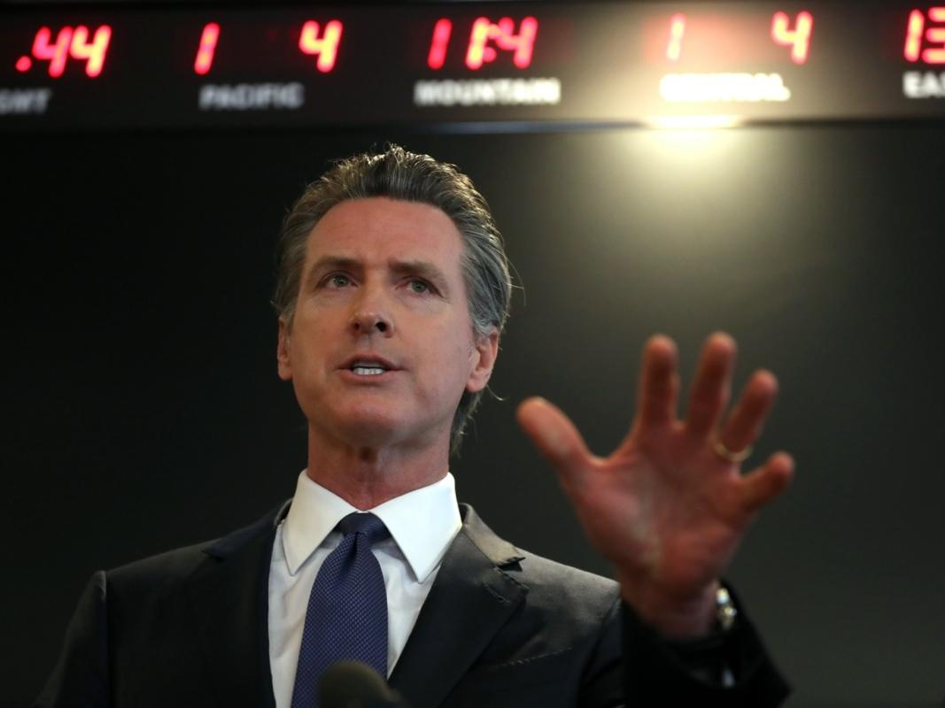 SACRAMENTO, CALIFORNIA - FEBRUARY 27: California Gov. Gavin Newsom speaks during a news conference at the California Department of Public Health on February 27, 2020 in Sacramento, California.