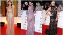 Sheer dresses dominate awards show red carpet