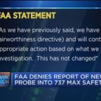 FAA denies report of new probe into Boeing 737 MAX