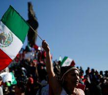 Tijuana border crossing shut as Mexicans protest against arrival of migrant caravan