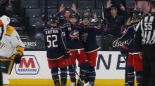Grigorenko, Bjorkstrand lift Blue Jackets past Predators 4-2
