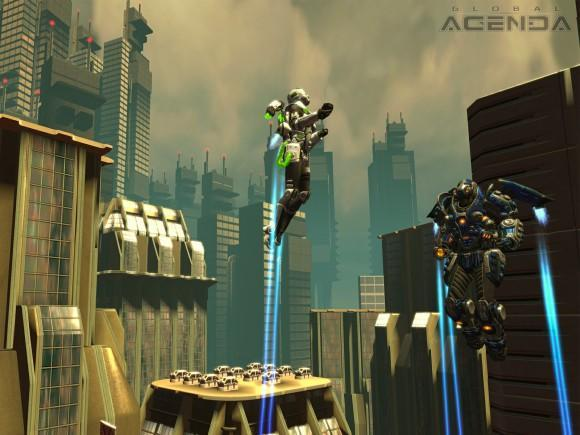 Jet packs, mechs, and all-out carnage in latest Global Agenda screens