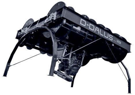 D-Dalus aircraft lacks fixed-wing or rotor, looks like flying steamroller