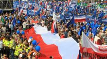 Several thousand Poles protest against right-wing ruling party