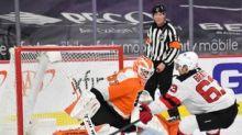 Devils fall to Flyers, 4-2, in season finale