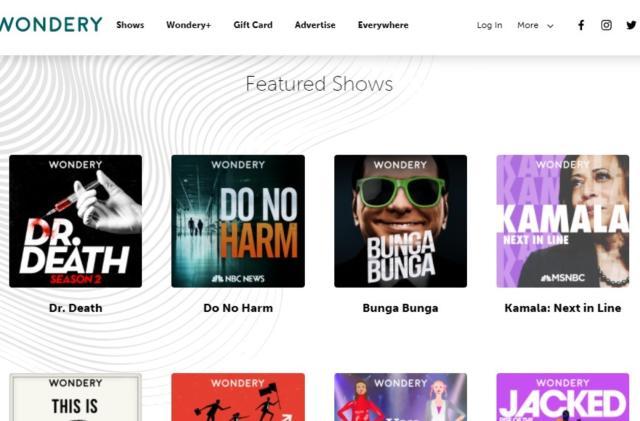 Amazon may buy podcast network Wondery