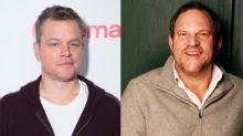 Matt Damon niega haber encubierto los acosos sexuales de Harvey Weinstein