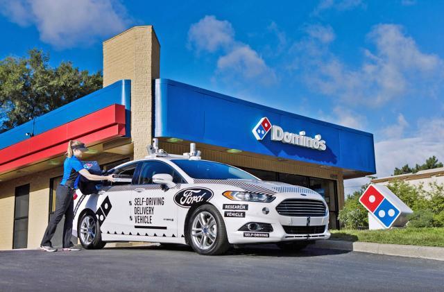 An autonomous Ford Fusion will deliver Domino's in Michigan