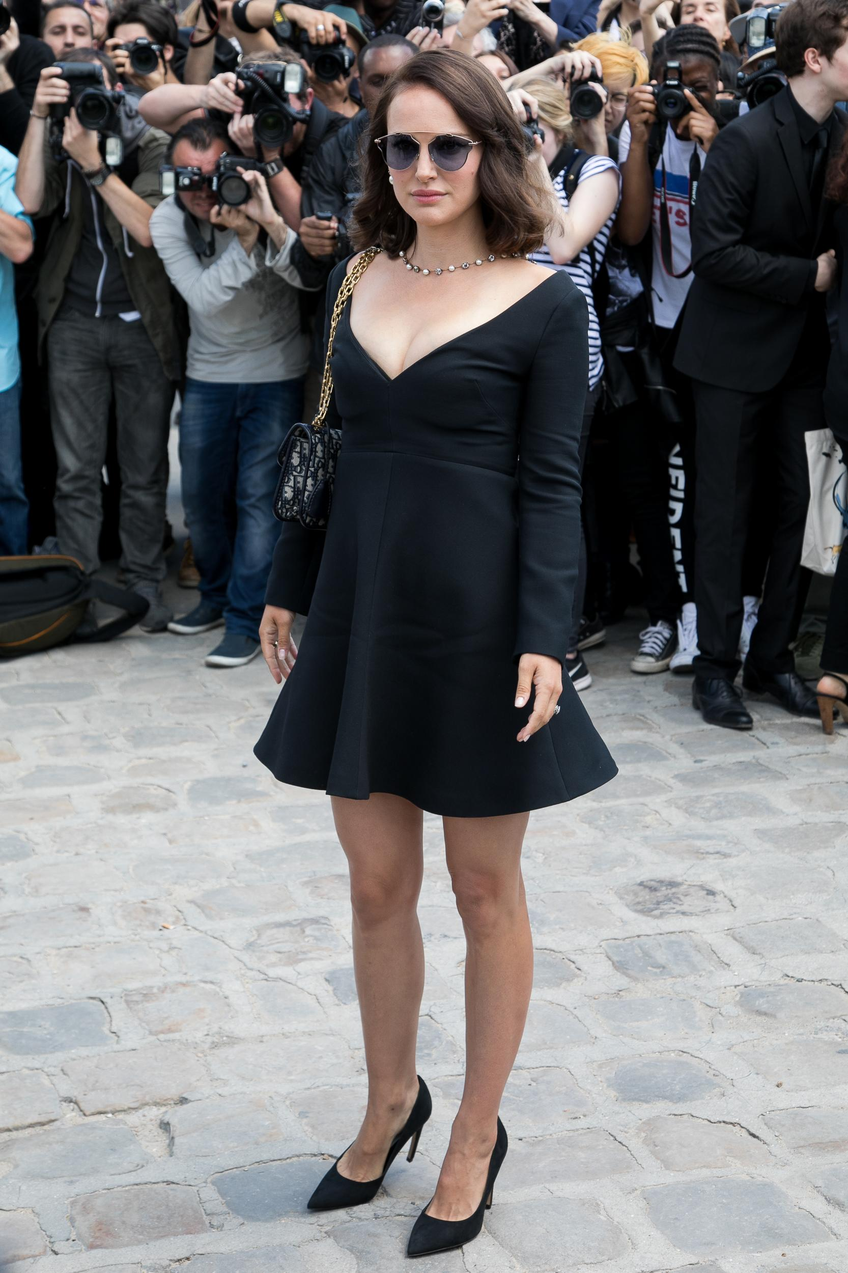 PARIS, FRANCE - JULY 03:  Actress Natalie Portman attends the Christian Dior Haute Couture Fall/Winter 2017-2018 show as part of Paris Fashion Week on July 3, 2017 in Paris, France.  (Photo by Marc Piasecki/WireImage)