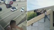 Dramatic twist after missing man found on motorway bridge