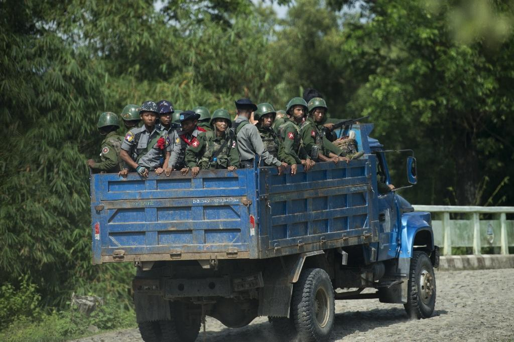 Myanmar detains police over Rohingya abuse video