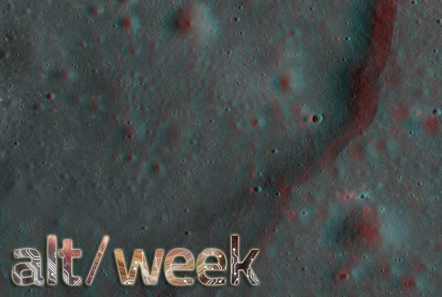 Alt-week 9.29.12: 3D pictures of the moon, 4D clocks and laser-controlled worms