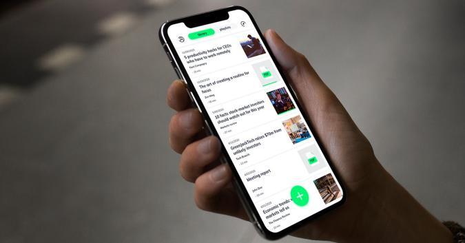 A phone running the Elocance app.