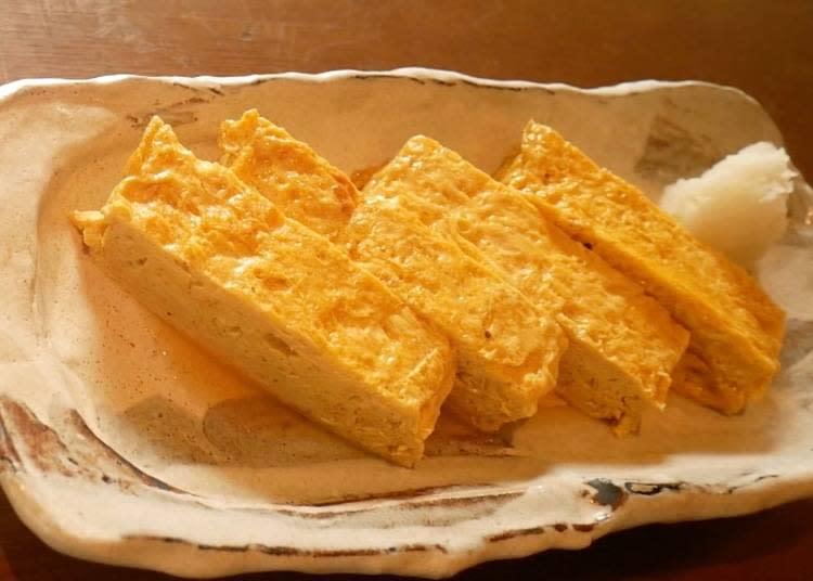 柴魚高湯玉子燒(出汁巻き玉子 800 日圓)