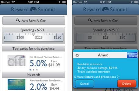 Reward Summit tracks your credit card reward programs so you don't have to
