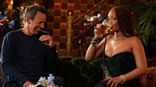 Rihanna and Seth Meyers get into hilarious day drinking shenanigans