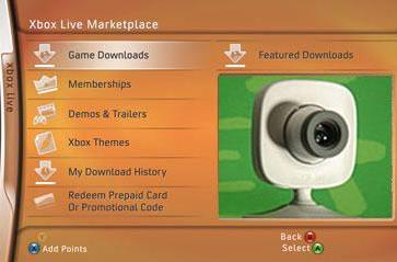 Current XBLA to be updated for use with camera