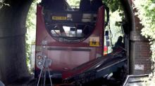 Winchester school bus crash: Three children rushed to hospital after double-decker hits bridge