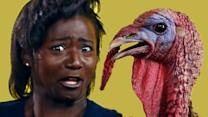 Olympic Athletes Get Surprised With Live Turkeys, Because Why Not?