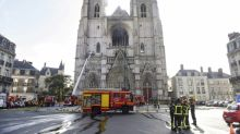 Fire damages cathedral in French city of Nantes